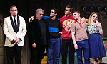 """Moises Kaufman, Harvey Fierstein, Michael Urie, Ward Horton, Jack DiFalco and Roxanna Hope Radja  during the Broadway Opening Night Curtain Call for """"Torch Song"""" at the Hayes Theater on November 1, 2018 in New York City."""