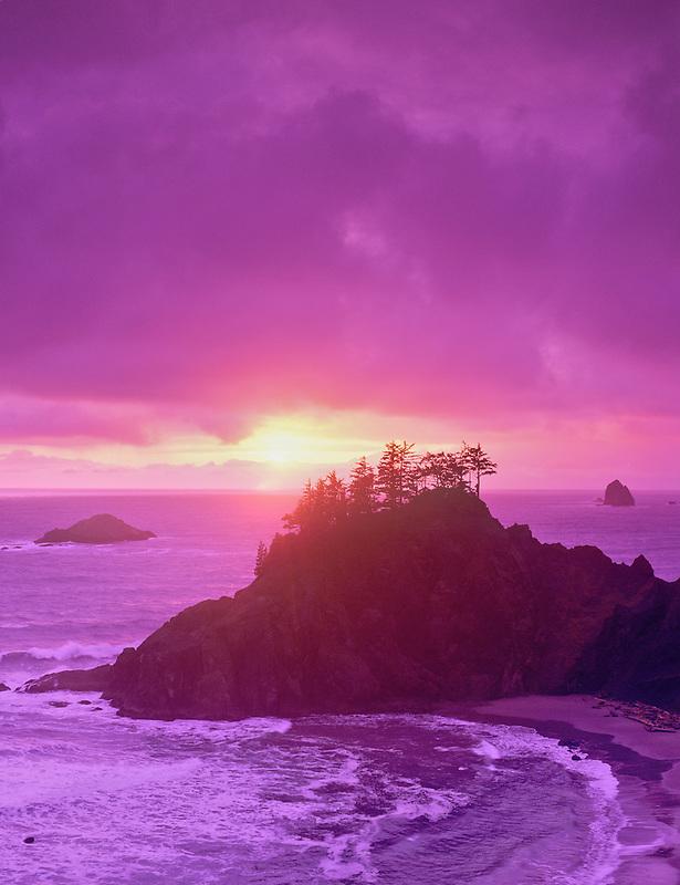 Sunset at Boardman State Park, Oregon.