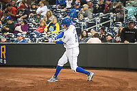 Casey Kotchman (34) of the Omaha Storm Chasers during the game against the Memphis Redbirds in Pacific Coast League action at Werner Park on April 24, 2015 in Papillion, Nebraska.  (Stephen Smith/Four Seam Images)