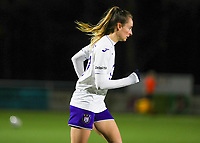 Tessa Wullaert (27) of Anderlecht pictured during a female soccer game between  Racing Genk Ladies and RSC Anderlecht on the 16 th matchday of the 2020 - 2021 season of Belgian Scooore Womens Super League , friday 12 th of March 2021  in Genk , Belgium . PHOTO SPORTPIX.BE   SPP   SEVIL OKTEM