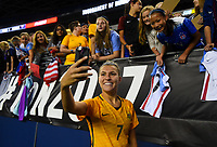 Seattle, WA - Thursday July 27, 2017: Steph Catley during a 2017 Tournament of Nations match between the women's national teams of the United States (USA) and Australia (AUS) at CenturyLink Field.