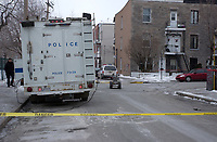 Photo d'archive de la police <br /> de Montreal,durant une alerte a la bombe<br /> <br /> PHOTO :  AGENCE QUEBEC PRESSE