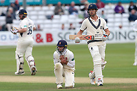 Frustration for Essex skipper Ryan ten Doeschate as Nick Compton (R) and Paul Stirling add to the Middlesex total during Essex CCC vs Middlesex CCC, Specsavers County Championship Division 1 Cricket at The Cloudfm County Ground on 29th June 2017