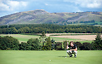 Pic Kenny Smith...... Tel 07809 450119.Johnnie Walker Championship, PGA Course Gleneagles, Day 2..Robert Rock putts out on the 8th