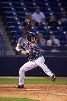 Tampa Yankees second baseman Nick Solak (39) at bat during a game against the Bradenton Marauders on April 15, 2017 at George M. Steinbrenner Field in Tampa, Florida.  Tampa defeated Bradenton 3-2.  (Mike Janes/Four Seam Images)