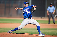 Kansas City Royals minor league pitcher Zach Lovvorn #32 during an instructional league game against the Seattle Mariners at the Peoria Sports Complex on October 2, 2012 in Peoria, Arizona. (Mike Janes/Four Seam Images)