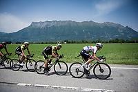 Team Mitchelton-Scott setting the pace<br /> <br /> Stage 6: Saint-Vulbas to Saint-Michel-de-Maurienne (228km)<br /> 71st Critérium du Dauphiné 2019 (2.UWT)<br /> <br /> ©kramon
