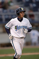 July 6 2009: Anthony Phillips of the Everett AquaSox during game against the Yakima Bears at Everett Memorial Stadium in Everett,WA.  Photo by Larry Goren/Four Seam Images