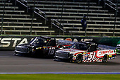 NASCAR Camping World Truck Series<br /> JAG Metals 350<br /> Texas Motor Speedway<br /> Fort Worth, TX USA<br /> Friday 3 November 2017<br /> Myatt Snider, Liberty Tax Service Toyota Tundra and Noah Gragson, Switch Toyota Tundra<br /> World Copyright: Russell LaBounty<br /> LAT Images