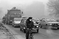 - Milano, gennaio 1992, traffico automobilistico ed inquinamento<br /> <br /> - Milan, January 1992, car traffic and pollution