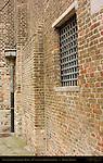 Cathedral Sint-Salvator Tower, 12th century Brickwork detail, Bruges, Brugge, Belgium