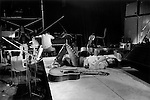 The Rolling Stones, a rehearsal at the Institute of Contemporary Arts (ICA) London. They were to perform later that evening at the Marque Club, 165 Oxford Street. Keith Richards high on Rock and Roll.