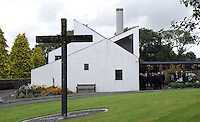"COPY BY TOM BEDFORD<br /> Pictured: Parc Gwyn Crematorium in Pembrokeshire, Wales, UK<br /> Re: A midwife had her dying wish granted when an undertaker she delivered more than 50 years ago arranged her funeral in Haverfordwest, Pembrokeshire.<br /> Joan Phillips told undertaker Robin Folland: ""I brought you into the world so I want you to take me out of it.""<br /> The pair joked about the unusual arrangement for years when they saw each other in the street.<br /> But when Joan passed away aged 88 Robin stepped in to give her a good send off.<br /> Robin, 54, said: ""Joan lived nearby and when my mum went into labour she was there to deliver me.<br /> ""When I started working for my dad's funeral company Joan told me I had to look after her when the time came.<br /> ""She used to say that she brought me into the world so I had to take her out of it."