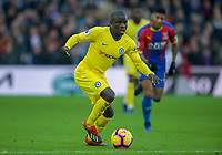 Ngolo KANTE of Chelsea during the Premier League match between Crystal Palace and Chelsea at Selhurst Park, London, England on 30 December 2018. Photo by Andrew Aleks.
