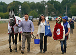 August 28, 2021: The connections of Essential Quality #2, smile as they walk back to the barn after winning the Grade 1 Travers at Saratoga Race Course in Saratoga Springs, N.Y. on August 28th, 2021. Dan Heary/Eclipse Sportswire/CSM