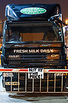 © Joel Goodman - 07973 332324 . 27/07/2012 . Manchester , UK . Protesting farmers blockade Robert Wiseman Dairies in Trafford Park , Manchester . Protesters said Robert Wiseman had not increased the price they paid for their milk and were intending to reduce the price in August . A worker at Robert Wiseman reported that 99 milk delivery lorries were prevented from leaving the depot by the blockade . Photo credit: Joel Goodman