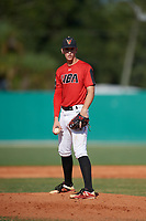 AJ Causey (10) during the WWBA World Championship at Terry Park on October 8, 2020 in Fort Myers, Florida.  AJ Causey, a resident of Madison, Alabama who attends Sparkman High School, is committed to Jacksonville State.  (Mike Janes/Four Seam Images)