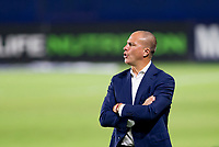 CARSON, CA - OCTOBER 07: Giovanni Savarese manager of the Portland Timbers yells out directions during a game between Portland Timbers and Los Angeles Galaxy at Dignity Heath Sports Park on October 07, 2020 in Carson, California.