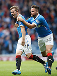 David Templeton scores the second goal for Rangers and celebrates