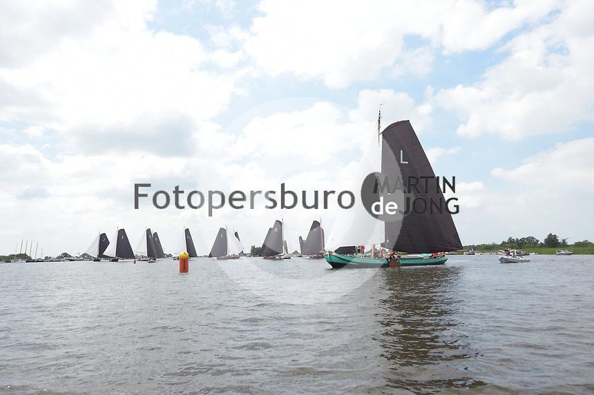 ZEILSPORT: DE VEENHOOP: 29-07-2019, SKS Skûtsjesilen, ©foto Martin de Jong