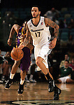 Reno Bighorns' Tyler Honeycutt plays against the Los Angeles D-Fenders in Reno, Nev., on Friday, Jan. 6, 2012. The D-Fenders won 109-78..Photo by Cathleen Allison