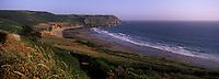 Europe/France/Normandie/Basse-Normandie/50/Manche/Presqu'île de la Hague/ Env de Jobourg: La  Baie d'Ecalgrain et en fond le Nez de Jobourg