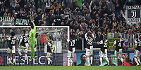 Football Soccer: UEFA Champions League -Group Stage-  Group D - Juventus vs Lokomotiv Moskva, Allianz Stadium. Turin, Italy, October 22, 2019.<br /> Juventus' players celebrate after winning 2-1 the Uefa Champions League football soccer match between Juventus and Lokomotiv Moskva at Allianz Stadium in Turin, on October 22, 2019.<br /> UPDATE IMAGES PRESS