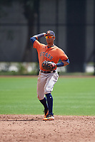 Houston Astros Miguelangel Sierra (38) during a minor league Spring Training game against the Washington Nationals on March 28, 2017 at the FITTEAM Ballpark of the Palm Beaches in West Palm Beach, Florida.  (Mike Janes/Four Seam Images)