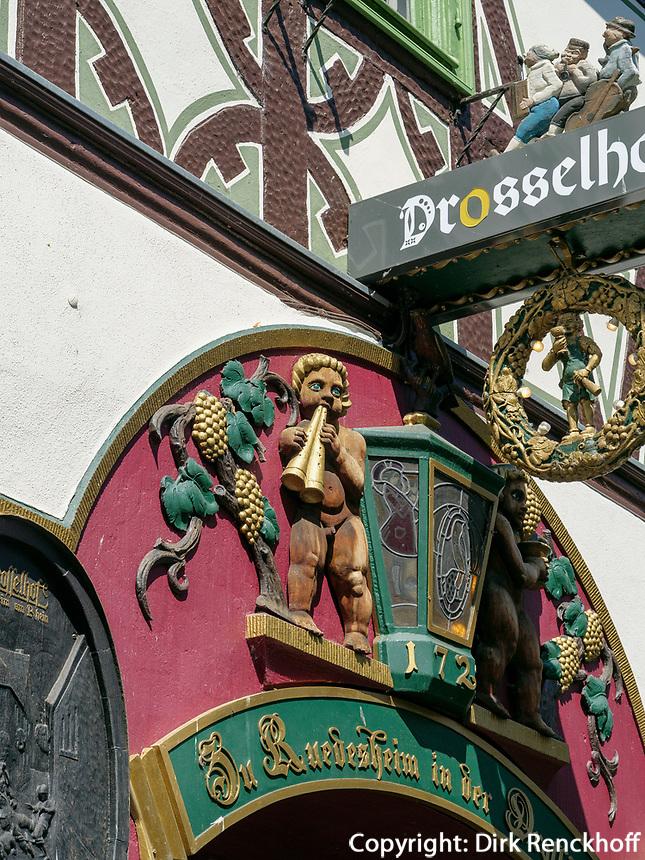 Drosselgasse, Rüdesheim, Hessen, Deutschland, Europa<br /> Drosselgasse, Rüdesheim, Hesse, Germany, Europe