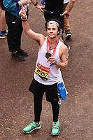 Cel Spellman<br /> at the finish of the London Marathon 2019, Greenwich, London<br /> <br /> ©Ash Knotek  D3496  28/04/2019