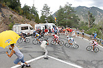 Christopher Froome, Alberto Contador, Joaquin Purito Rodriguez, Alejandro Valverde and Denis Menchov during the stage of La Vuelta 2012 between Lleida-Lerida and Collado de la Gallina (Andorra).August 25,2012. (ALTERPHOTOS/Paola Otero)