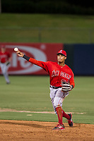 AZL Angels second baseman Gleyvin Pineda (72) on defense during a game against the AZL Giants on July 9, 2017 at Diablo Stadium in Tempe, Arizona. AZL Giants defeated the AZL Angels 8-4. (Zachary Lucy/Four Seam Images)