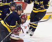 Kyle Bigos (Merrimack - 3), Matt Price (BC - 25) - The Boston College Eagles defeated the Merrimack College Warriors 4-3 on Friday, October 30, 2009, at Conte Forum in Chestnut Hill, Massachusetts.