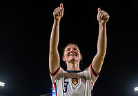 HOUSTON, TX - JUNE 10: Samantha Mewis #3 of the USWNT waves to the crowd after a game between Portugal and USWNT at BBVA Stadium on June 10, 2021 in Houston, Texas.