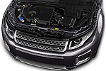 Car Stock 2016 Land Rover Range Rover Evoque HSE 5 Door Suv Engine  high angle detail view