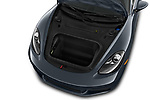 Car Stock 2017 Porsche 718 Cayman 3 Door Coupe Engine  high angle detail view