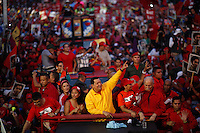 Venezuelan President and presidential candidate Hugo Chavez during a rally in Maturin city, in the Eastern of the country