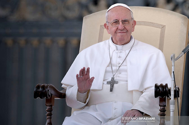 Pope Francis during his weekly general audience in St. Peter square at the Vatican, Wednesday. 27 March 2013