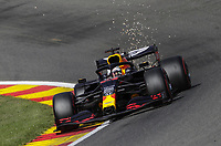 29th August 2020, Spa Francorhamps, Belgium, F1 Grand Prix of Belgium , qualification;   33 Max Verstappen NLD, Aston Martin Red Bull Racing on his way to 3rd on drid