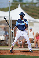 TJ McCants during the WWBA World Championship at the Roger Dean Complex on October 18, 2018 in Jupiter, Florida.  TJ McCants is a shortstop from Cantonment, Florida who attends Pensacola Catholic High School and is committed to Mississippi.  (Mike Janes/Four Seam Images)