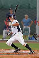 Seth Henry (4) Infielder for the GCL Rays during a game against the GCL Red sox on July 15th, 2010 at Charlotte Sports Park in Port Charlotte Florida. The GCL Rays are the the Gulf Coast Rookie League affiliate of the Tampa Bay Rays. Photo by: Mark LoMoglio/Four Seam Images