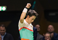Rotterdam, The Netherlands, 12 Februari 2019, ABNAMRO World Tennis Tournament, Ahoy, first round singles: Kei Nishikori (JPN) - Pierre-Hugues Herbert (FRA),<br /> Photo: www.tennisimages.com/Henk Koster