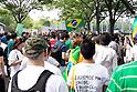 Brazil protesters in Tokyo