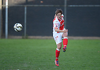 20150428 - VARSENARE , BELGIUM : Standard Maud Coutereels pictured during the soccer match between the women teams of Club Brugge Vrouwen and Standard de Liege Femina , on the 24th matchday of the BeNeleague competition Tuesday 28 th April 2015 in Varsenare . PHOTO DAVID CATRY