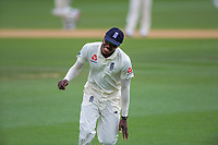 England's Jofra Archer is beaten to the boundary during day five of the international cricket 2nd test match between NZ Black Caps and England at Seddon Park in Hamilton, New Zealand on Tuesday, 3 December 2019. Photo: Dave Lintott / lintottphoto.co.nz