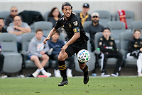 LOS ANGELES, CA - MARCH 01: Carlos Vela #10 of LAFC moves to the ball during a game between Inter Miami CF and Los Angeles FC at Banc of California Stadium on March 01, 2020 in Los Angeles, California.