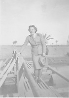 BNPS.co.uk (01202) 558833. <br /> Pic: TankMuseum/BNPS<br /> <br /> Pictured: Mrs Jean Robinson. <br /> <br /> A Union Jack flag flown in defiance during the Siege of Tobruk is being displayed for the first time alongside a Nazi swastika flag captured during its liberation.<br /> <br /> The Allies held out for eight months in the face of an Afrika Corps onslaught until they were freed by the 8th Army in November 1941.<br /> <br /> The German commander Erwin Rommel was surprised by the aggressive attack, codenamed Operation Crusader, and forced to retreat at a pivotal juncture of the North African campaign.<br /> <br /> In the ensuing chaos, the swastika flag was captured from an 88mm flak gun locker by the advancing 8th Royal Tank Regiment.<br /> <br /> The flags will go on show from next month as part of the new World War Two: War Stories exhibition at the Tank Museum in Bovington, Dorset.