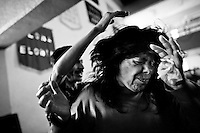A Mexican woman fights with demons during the exorcism ritual performed at the Church of the Divine Saviour on outskirts of Mexico City, Mexico, 31 May 2011. Exorcism is an ancient religious technique of evicting spirits, generally called demons or evil, from a person which is believed to be possessed. Although the formal catholic rite of exorcism is rarely seen and must be only conducted by a designated priest, there are many Christian pastors and preachers (known as 'exorcistas') performing exorcism and prayers of liberation. Using their strong charisma, special skills and religous formulas, they command the evil spirit to depart a victim's mind and body, usually invoking Jesus Christ or God to intervene in favour of a possessed person.