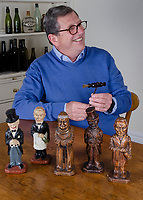 BNPS.co.uk (01202) 558833.<br /> Pic: SpecialAuctionServices/BNPS<br /> <br /> Pictured: Retired hotelier François Touzin with some of the collection<br /> <br /> What a corker...<br /> <br /> An incredible collection of corkscrews dating back 300 years and from all over the world has emerged for sale for £20,000.<br /> <br /> Retired hotelier François Touzin has had a passion for collecting corkscrews for 45 years and this sale is less than half of what he has amassed in his travels around the globe.<br /> <br /> The 470 corkscrews range from the early 18th century through to miniature corkscrews from the 1970s that were designed for opening travelling ladies' and gentlemen's perfumes and vary in estimates from £50 to £800.<br /> <br /> The collection will be sold with Special Auction Services tomorrow (Tues).