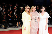 U.S. actress Kirsten Dunst, center, and fashion designers Kate Mulleavy, left and her sister Laura Mulleavy pose on the red carpet for the premiere of the movie 'Woodshock' at the 74th Venice Film Festival, Venice Lido, September 4, 2017. <br /> UPDATE IMAGES PRESS/Marilla Sicilia<br /> <br /> *** ONLY FRANCE AND GERMANY SALES ***